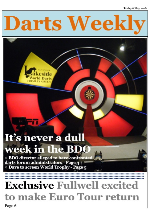 In the mag: BDO director alleged to have confronted darts forum administrators andmore!