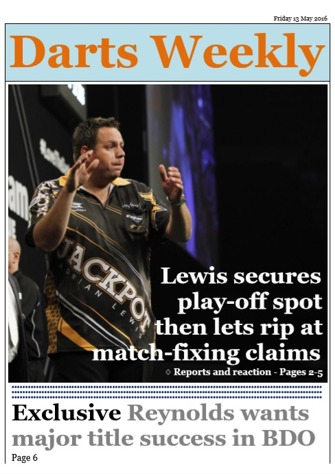In the mag: Lewis secures Premier League play-off spot then lets rip at match-fixingclaims