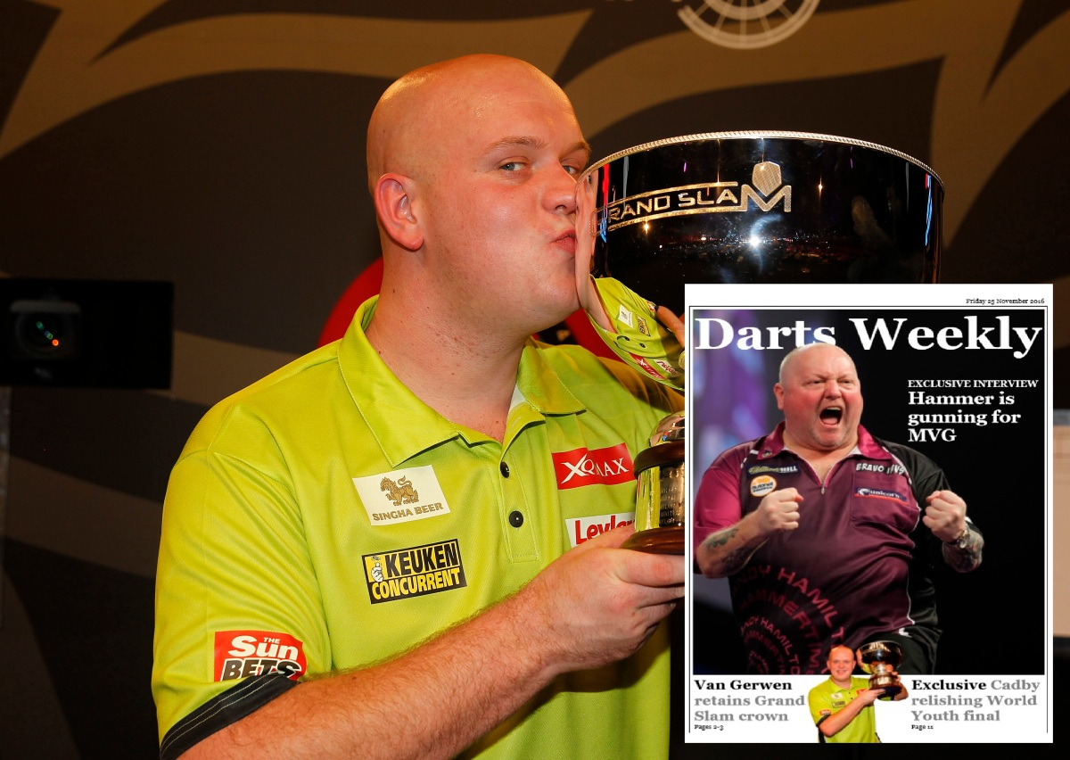 In the mag: Hamilton's gunning for MVG, Grand Slam double for van Gerwen, Cadby on Youthfinal