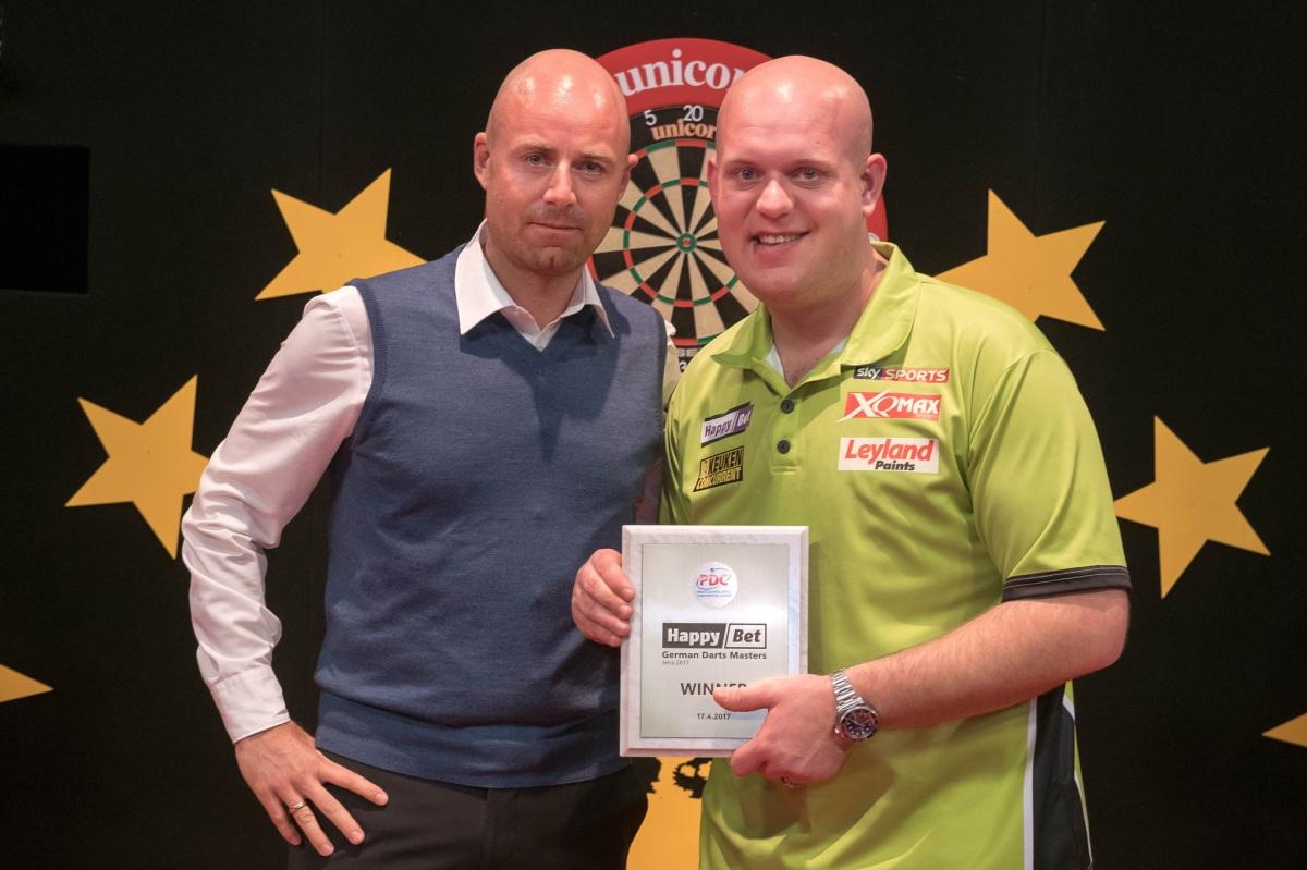 Michael van Gerwen completes HappyBet German Darts Masters treble with victory inJena