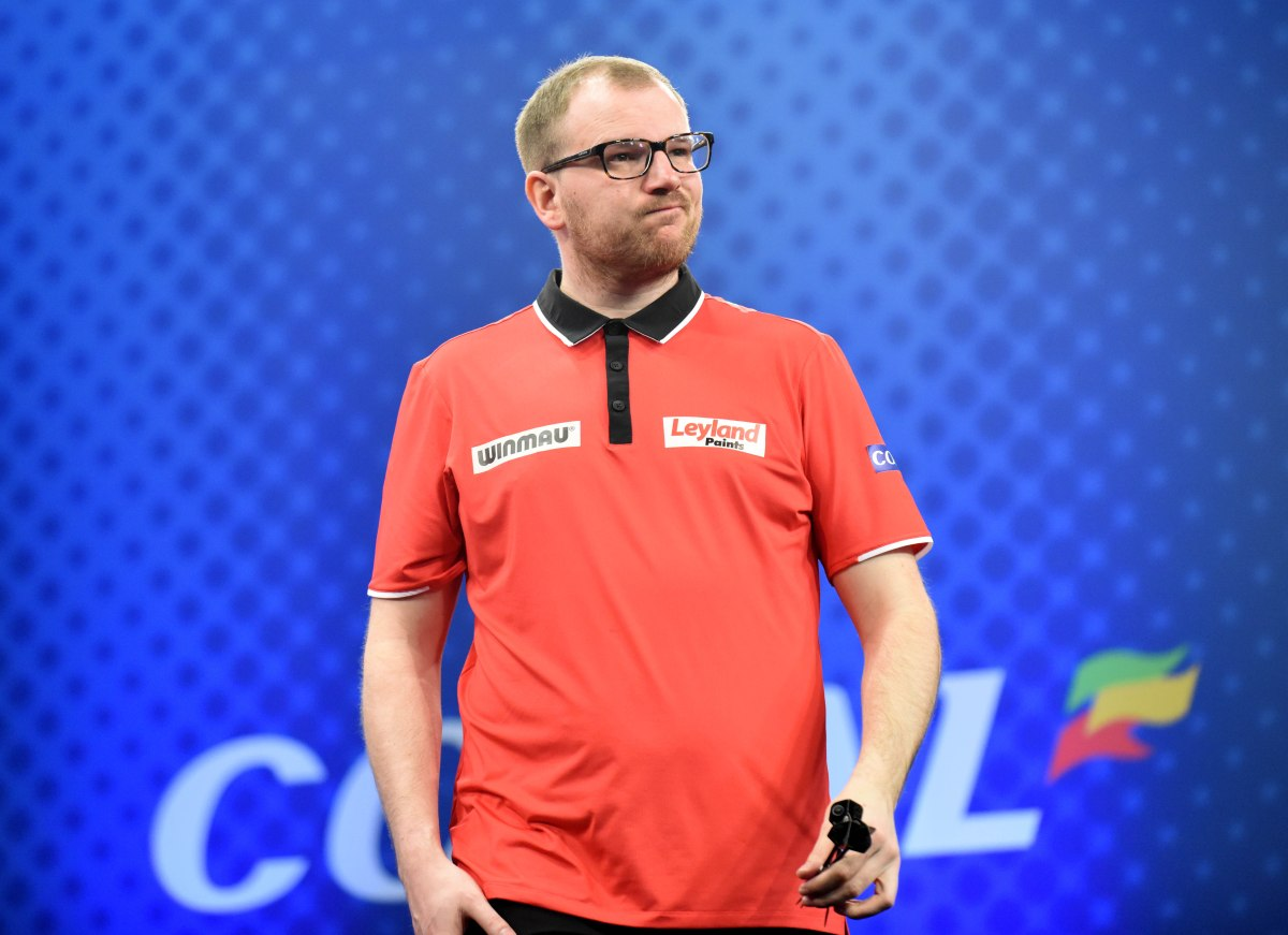Former BDO world champion Mark Webster opens up on his struggles with dartitis after win against James Wade in Sindelfingen