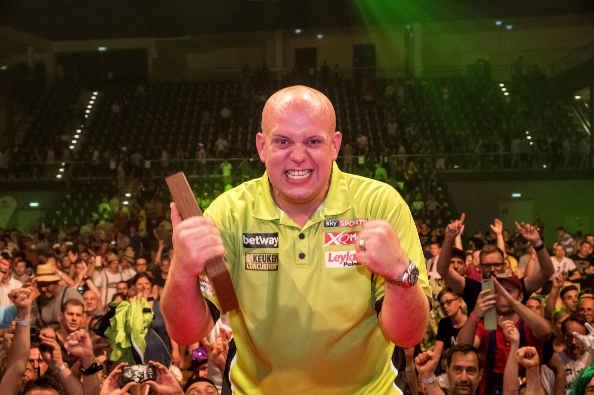 RACE TO HASSELT: Back-to-back European Tour titles moves Michael van Gerwen into provisional top seed spot