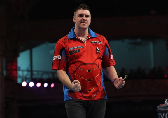 BET VICTOR WORLD MATCHPLAY 2017 WINTER GARDENS, BLACKPOOL ROUND 1 DARYL GURNEY V BENITO VAN DE PAS DARYL GURNEY IN ACTION