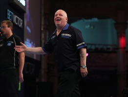 BET VICTOR WORLD MATCHPLAY 2017 WINTER GARDENS, BLACKPOOL ROUND 1 ROBERT THORNTON V CHRISTO REYES ROBERT THORNTON IN ACTION
