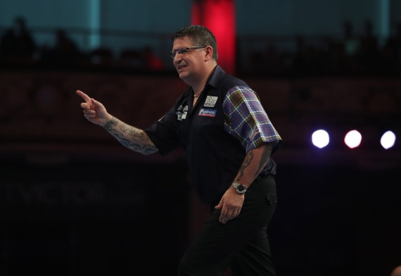 BET VICTOR WORLD MATCHPLAY 2017 WINTER GARDENS, BLACKPOOL ROUND 1 GARY ANDERSON V CHRISTIAN KIST GARY ANDERSON IN ACTION