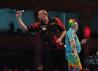 BET VICTOR WORLD MATCHPLAY 2017 WINTER GARDENS, BLACKPOOL ROUND 1 PETER WRIGHT V JAMES WILSON JAMES WILSON IN ACTION