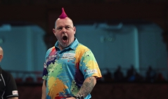 BET VICTOR WORLD MATCHPLAY 2017 WINTER GARDENS, BLACKPOOL ROUND 1 PETER WRIGHT V JAMES WILSON PETER WRIGHT IN ACTION