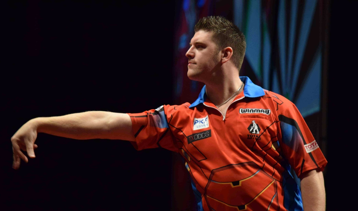 Daryl Gurney posts career-high televised average in Perth first round but says there's 'more left in thetank'