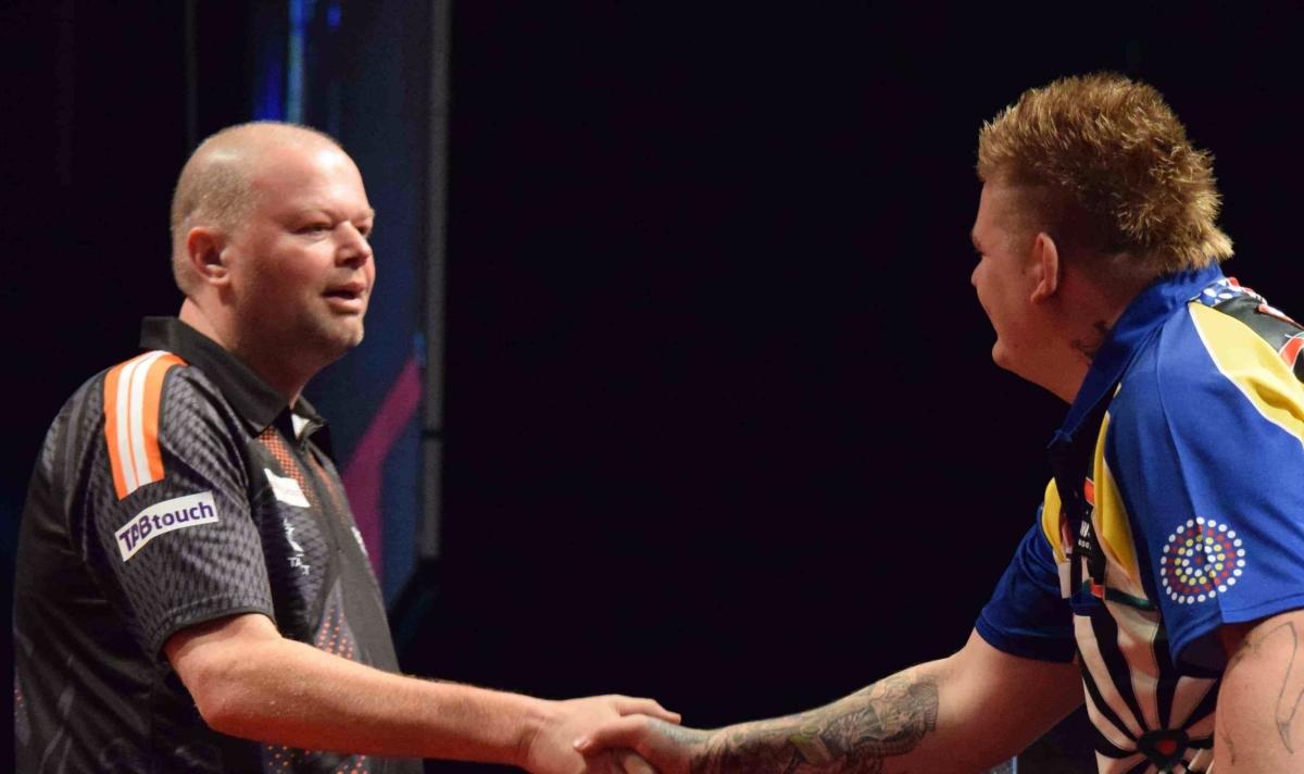 Raymond van Barneveld gains revenge on Corey Cadby to set up quarter-final clash with Phil Taylor inPerth