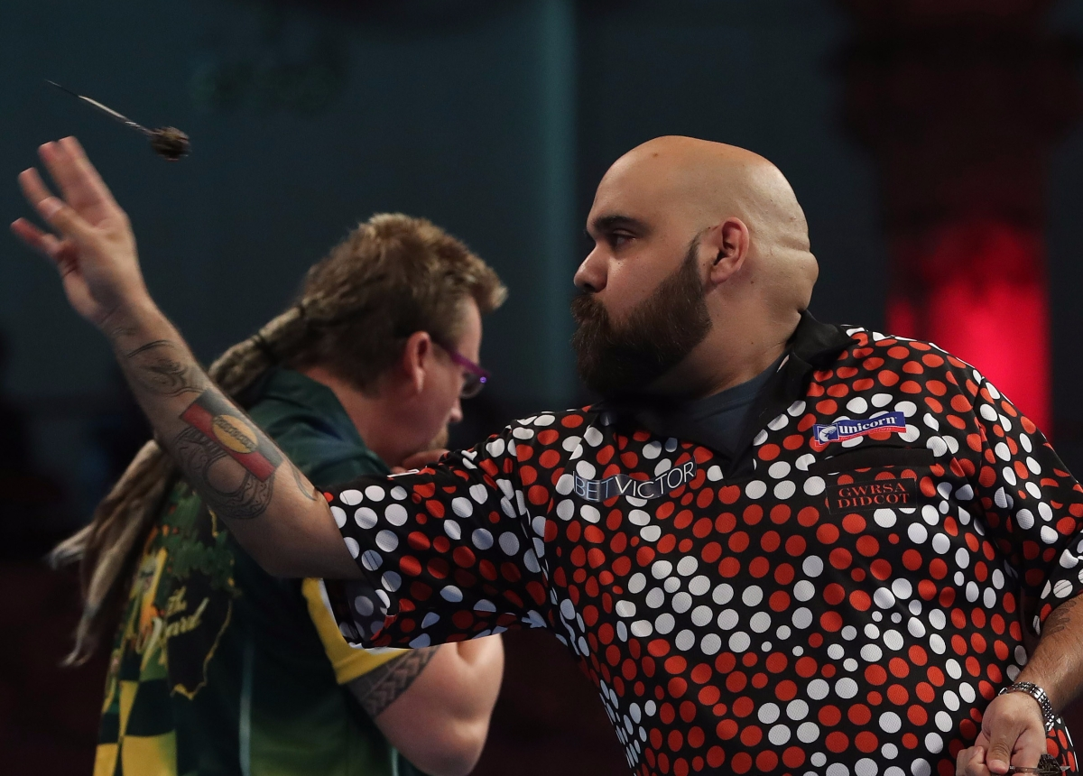 Aussie rivals Simon Whitlock and Kyle Anderson to clash in first round of Melbourne DartsMasters