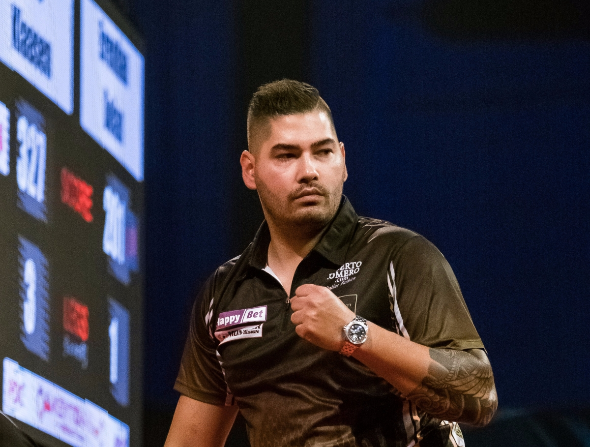Jelle Klaasen posts highest average since surgery to beat Brendan Dolan in International Darts Open last 32