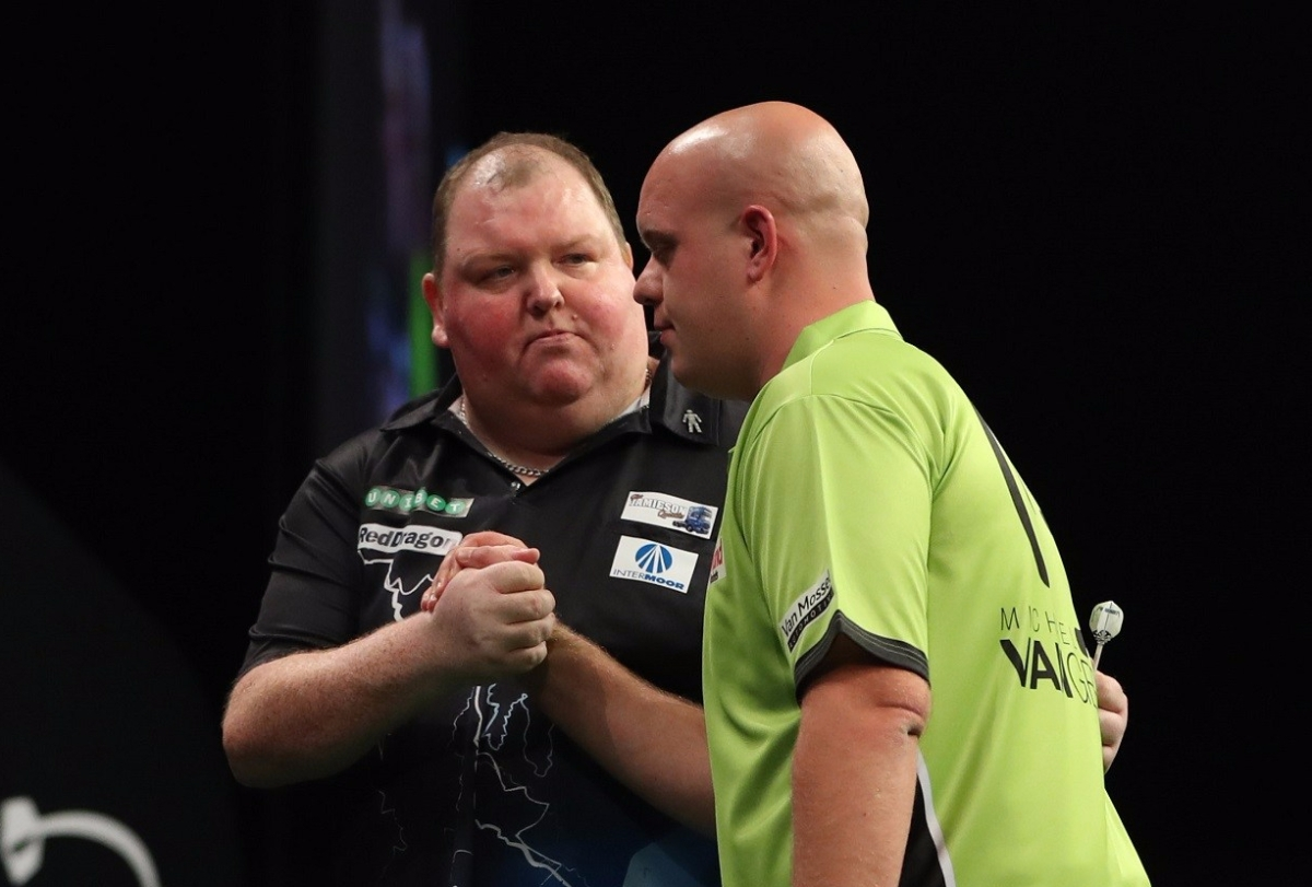 World number 32 John Henderson dumps out defending champion Michael van Gerwen in World Grand Prix first round
